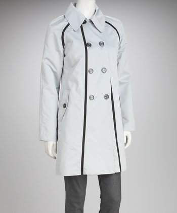 Dove & Black Trim Peacoat