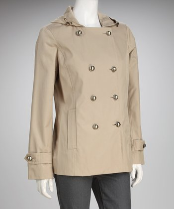 Anne Klein Flax Hooded Peacoat