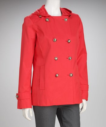 Anne Klein Tamale Hooded Peacoat