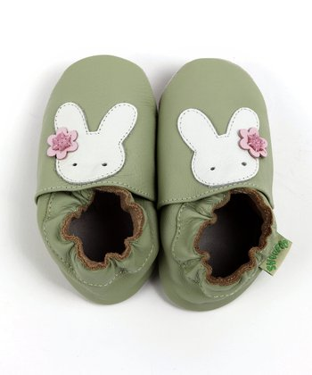 Green Bunny Soft-Sole Shoe