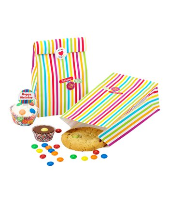 Cake Central Stripe Treat Bag Set