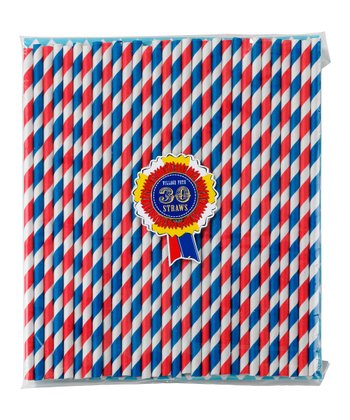 Village Fete Stripe Paper Straw - Set of 30