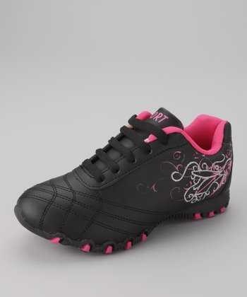 Black & Fuchsia Running Shoe