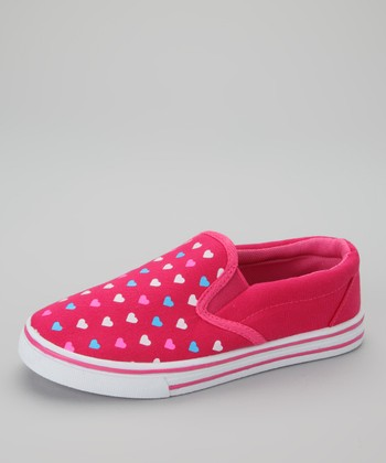 Fuchsia Heart Slip-On Shoe