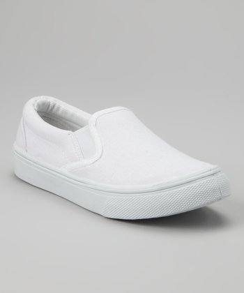White Slip-On Sneaker