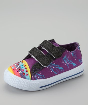 Purple & Royal Blue Fireworks Sneaker