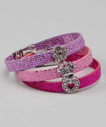 Pink, Red & Purple Click-Itz Bracelet Set