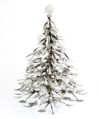 Forked Up Art Utensil Christmas Tree