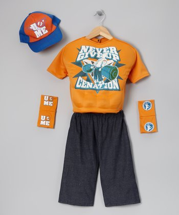 Orange John Cena Deluxe Dress-Up Set - Kids