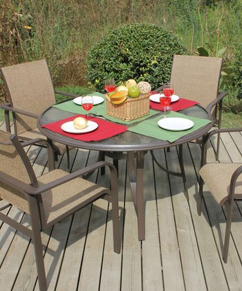 Brown Katerina Five-Piece Dining Set