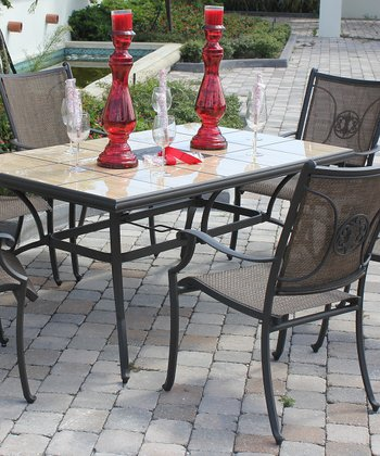 Brown Rochester Seven-Piece Dining Set