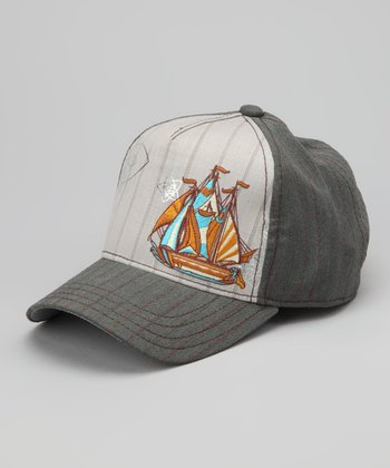 Gray Seaside Baseball Cap