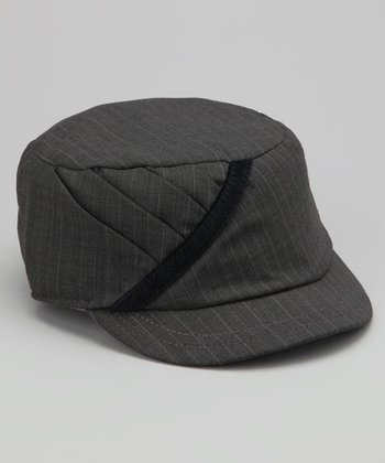 Gray Lil Monroe Wool-Blend Military Cap