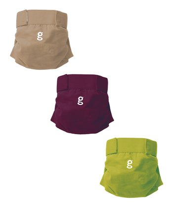 Purple, Green & Taupe gPants & Disposable Inserts