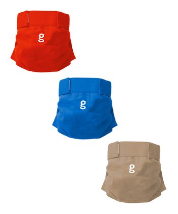 Blue, Red & Taupe gPants & Disposable Inserts