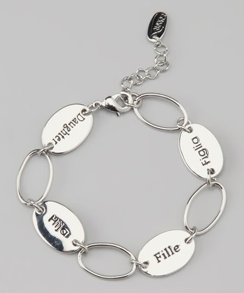 Silver 'Daughter' Language Bracelet