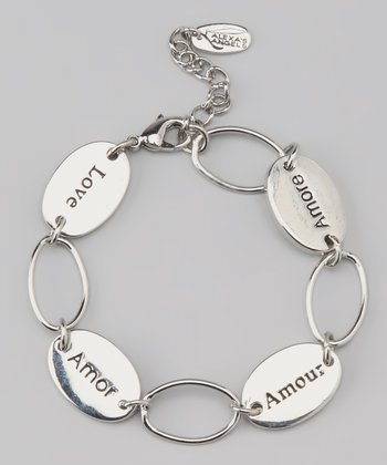 Silver 'Love' Language Bracelet