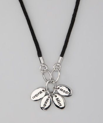 Silver 'Mother' Language Necklace