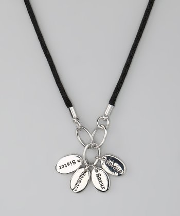 Silver 'Sister' Language Necklace