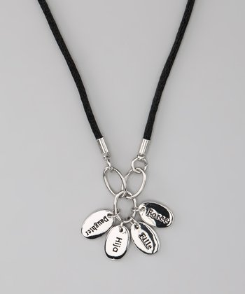 Silver 'Daughter' Language Necklace