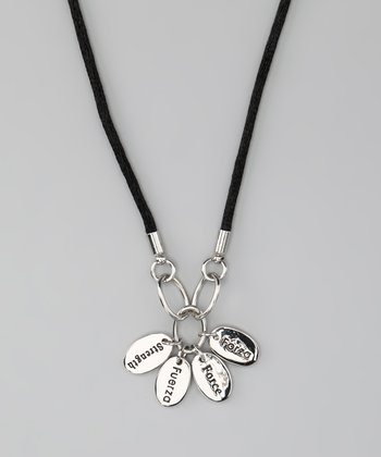 Silver 'Strength' Language Necklace