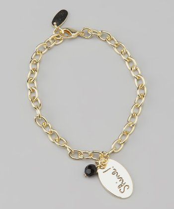 Gold & Black 'Shine!' Bracelet