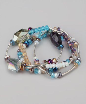Blue Resort Revival Beaded Stretch Bracelet Set
