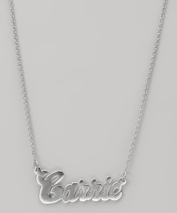 Sterling Silver Classic Personalized Pendant Necklace