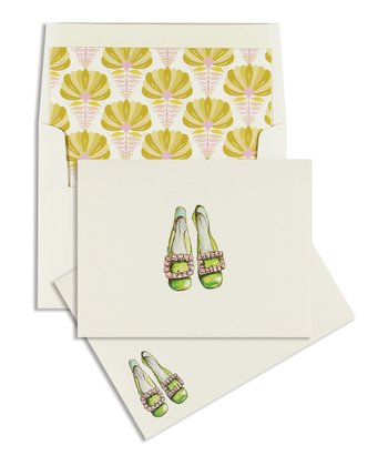 Cid Pear Pink Jewel Shoes Classic Note Card Set