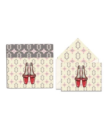 Cid Pear Red Shoes Sweet Notes Note Card Set