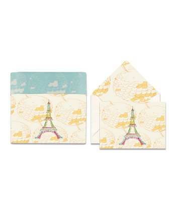 Cid Pear Eiffel Tower Sweet Notes Note Card Set