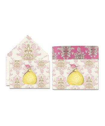 Cid Pear Pear Sweet Notes Note Card Set