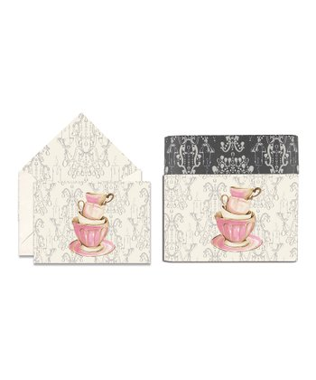 Cid Pear Teacup Sweet Notes Note Card Set