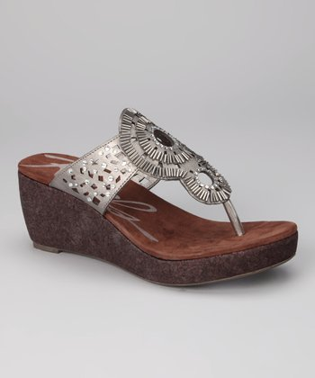 Pewter Electra Wedge Sandal