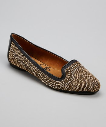 Black Embellished Glitzbot Loafer
