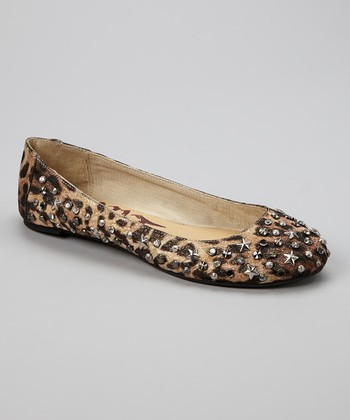 Brown Leopard Star-Embellished Hyper Flat