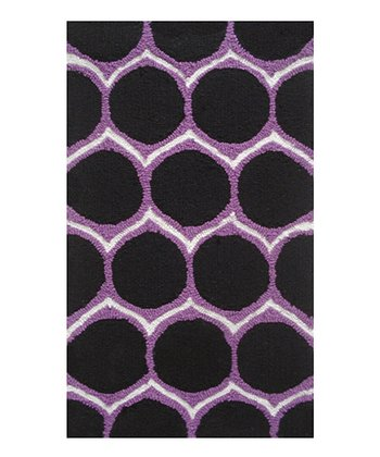 Purple Dot Rug