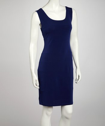 Light Purple Seamed Sheath Dress
