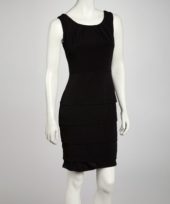 Black Panel Sheath Dress