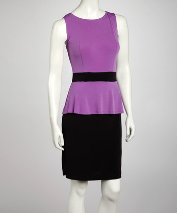 Lilac Peplum Dress
