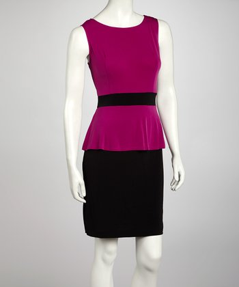Magenta Peplum Dress