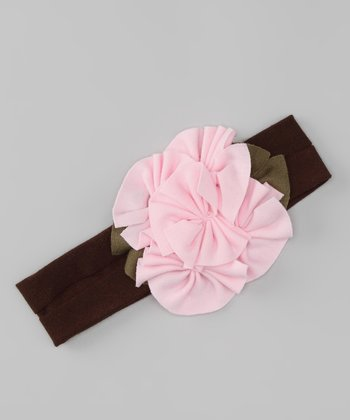 Pink & Brown Flutter Headband