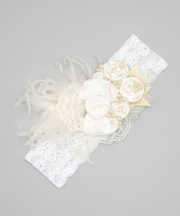 White Lace Serendipity Headband