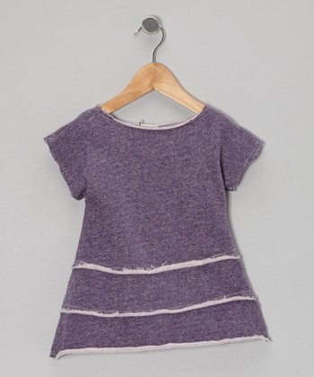 Purple Tiered Ruffle Top - Toddler & Girls