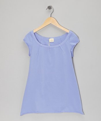 Periwinkle Scoop Neck Tee - Toddler & Girls