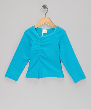 Aegean Ruched Long-Sleeve Tee - Toddler & Girls