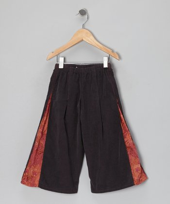 Graphite Side Slit Lined Pants - Toddler & Girls