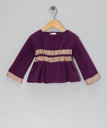 Elderberry Ruched Jacket - Toddler & Girls