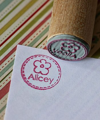 Flower Personalized Stamp