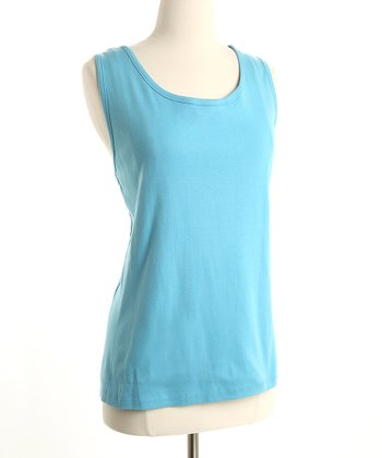 Blue Organic Cotton Nursing Tank
